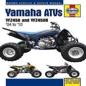 New Haynes Repair Manual Yamaha YFZ450 and YFZ450R ATVs 2004 - 2010 YFZ450 439cc
