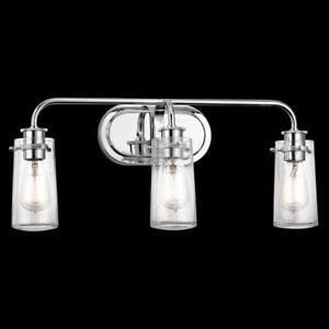 New, Kichler Lighting - 45459CH - Braelyn - Three Light Bath Light *PickupOnly PU2