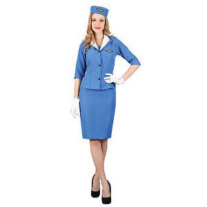Flight attendant retro costume -NEW