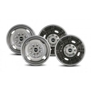 Ford F-350 PACIFIC DUALLY STAINLESS WHEEL COVERS