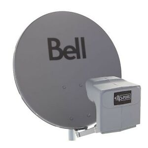 Bell satellite dish with dual lnb