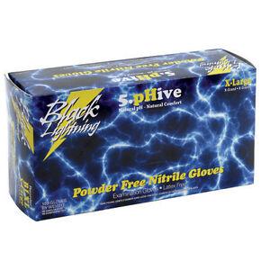 Black Lightning Powder & Latex Free Nitrile Gloves XXL