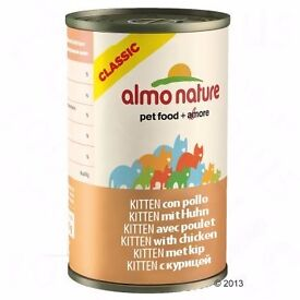 **SALE** Almo Nature Classic Kitten Food Chicken 140g x24 (also for underweight cats) 3 cases = £40