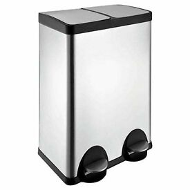 60L Stainless Steel Recycling Pedal Bin