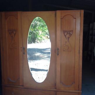 Set of two wardrobes, timber.
