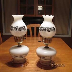 Lampe de table de marque Currier & Ives