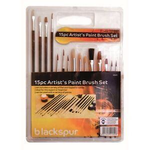 15 PIECE ARTISTS PAINT BRUSHES SET ART CRAFT POINTED BRUSH CRAFT MODELS HOBBY