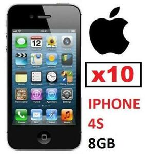 10 NEW APPLE IPHONE 4S 8GB LOCKED - 125522924 - BLACK - CELL PHONE - SMARTPHONE SMART PHONE
