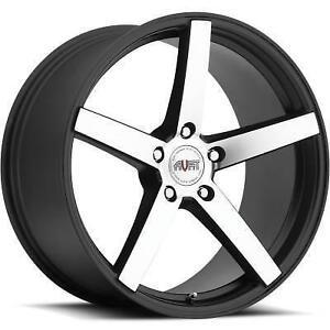 "NEW!!! MATTE BLACK/MACHINED 20"" rims/TIRES!! BMW MERCEDES ACURA"