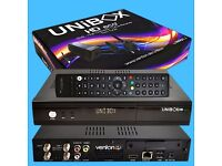 Unibox Eco HD + with world package gift Dual Tuner