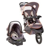 Jogging stroller & carseat combo