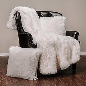 dfdf49dd71 Chanasya Super Soft Shaggy Longfur Throw Blanket - Snuggly Fuzzy ...