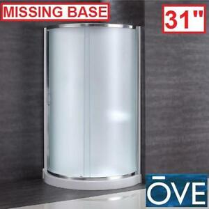 "NEW*OVE DECORS 31"" CORNER ENCLOSURE - 128942221 - 31"" x 31"" x 76"" SHOWER KIT INTIMACY GLASS, BASE PAN SURROUND WALLS ..."