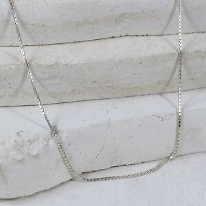 Sterling Silver 1mm Box Chain (size 28) #3.21