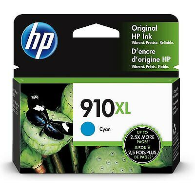 HP 910XL   Ink Cartridge   ~825 Pages   Cyan   3YL62AN#140