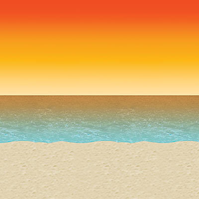 Luau Sunset Backdrop - Luau Background