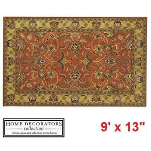 NEW* HDC CONSTANTINE AREA RUG - 125055422 - HOME DECORATORS COLLECTION RUST 9' x 13' FLOORING RUGS CARPETS CARPET DEC...