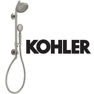 NEW KOHLER HAND SHOWER KIT - 123089080 - ARTIFACTS 2.0GPM VABRANT BRUSHED NICKEL