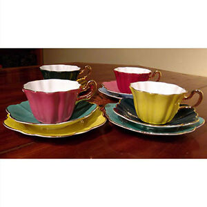 Royal Stuart Spencer Stevenson bone china partial tea set