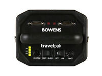 Bowens portable travelpak with 1 large battery 1 standard.
