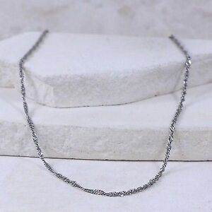Sterling Silver 2mm Singapore Chain (size 18) #3.23