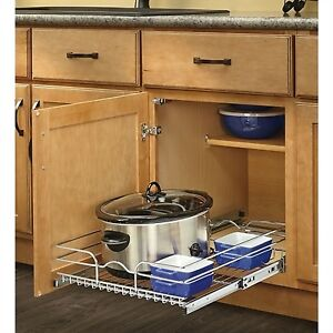 Kitchen metal drawer CROME organizer drover
