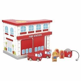 Wooden fire station: Brand new