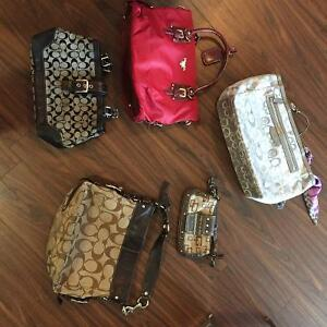 Assorted Coach  & Guess purses.  All Authentic!
