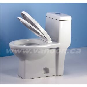 One-piece Eco-friendly Tank Toilet in Contemporary Style