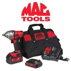 "NEW 5PC MAC IMPACT WRENCH KIT 20V - 129626881 - 20V - 1/2"" DRIVE COMPACT IMPACT WRENCH KIT POWER TOOLS CORDLESS TOOLS"