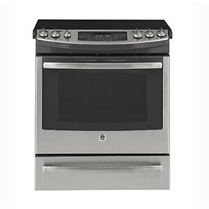 STOVE GE SLIDE-IN SMOOTHTOP STAINLESS STEEL