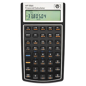 HP 10bll Financial Calculator and Guide Book