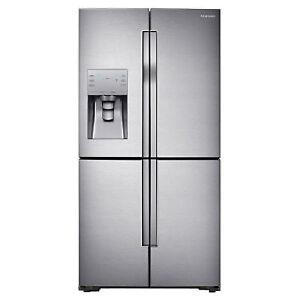 """Samsung RF23J9011SR/AA 35.7"""" 22.5 Cu. Ft. 4-Door French Door"""