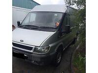 Ford transit 2.4 mwb 2002 silver spares or repair
