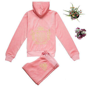 """New Juicy velour tracksuit embroidered light pink S-M chest 37"""""""
