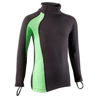BNWT Tribord thermal rash vest, junior, long sleeve, age 3-4 yrs, black & green, cost £15 accept £8