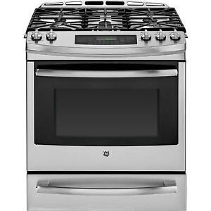 GE PCGS920SEFSS Free-Standing Single Oven Gas Range, 30 in, 5 cu.ft, True Temp TM System