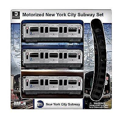 Daron Mta Motorized Nyc Subway Train Set With Track New