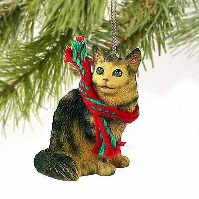 - Maine Coon Cat Tiny Miniature One Christmas Ornament Brown - DELIGHTFUL!