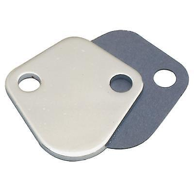New Chrome Fuel Pump Block Off Plate for Mopar Small Big Block Dodge 340 440  ()