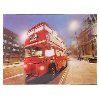 3D Bild Nachtbus London 29 x 39,5 cm