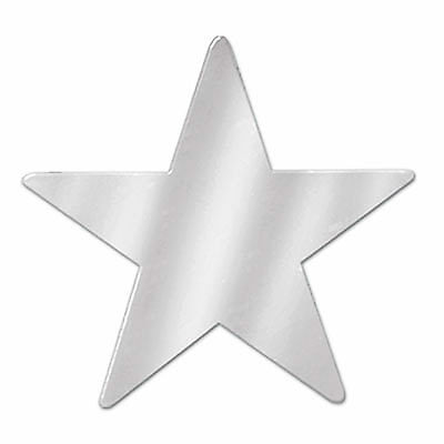 Metallic Star Cutouts (Silver) - Star Cutouts