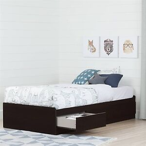 Selling brand new black TWIN bed with 3 drawers by SouthShore