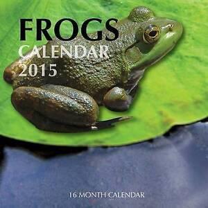 Frogs-Calendar-2015-16-Month-Calendar-by-Bates-James-Paperback