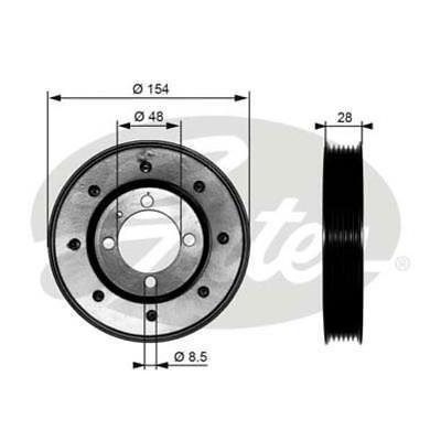 Torsion Vibration Damper Gates TVD1029