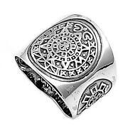 Aztec Calendar Ring