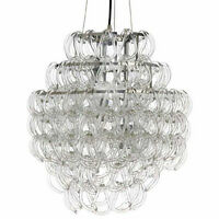 Glass link chandelier