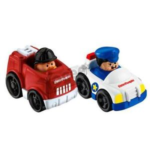 Little People Wheelies Vehicles:Police Car & Fire Truck