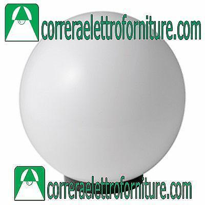 Lampione globo illuminazione giardino esterno SFERA 400 mm opale MARECO 1080501B
