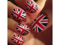 Trendy and Hip! GORGEOUS!!! UNION JACK False Nails - 2 FULL SETS!!! (24 in a Pack) These are WOW!!!!